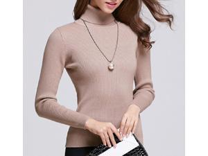 2015 autumn winter turtleneck sweater slim thick black sweater lady short shirt