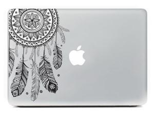 BLACK Feather Mac Laptop Protective Sticker Skin Vinyl Decal For Apple Macbook Laptop 15 Inch & Tablet & Wall & Car & Motorcycle