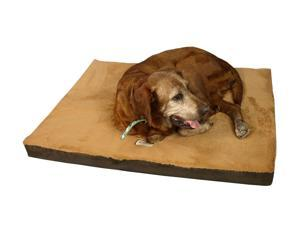 Armarkat Indoor Soft Plush Pet Dog Cushion Memory Foam Sleeper Mat In Sage Mocha And Brown Small