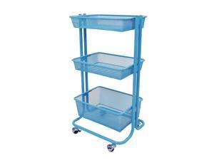 Offex Home Storage Kitchen Utility Rolling Cart - Blue