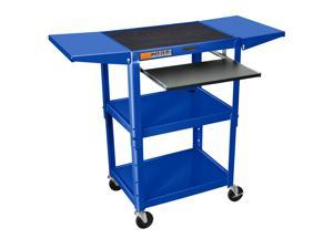 Luxor Mobile Multipurpose Adjustable Height Steel A/V Cart With Pullout