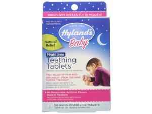 Hyland's Homeopathic Baby Natural Relief Nighttime Teething Tablets - 135 Count, 3 Pack