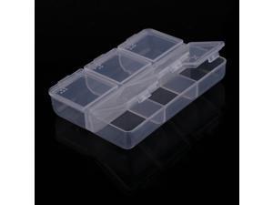 Transparent 6-Slots Medicine Pill Vitamin Storage Box Case Holder