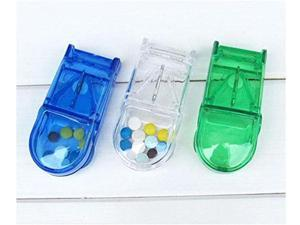 1-Slot with Pill Cutter Splitter Vitamin Storage Box Case Holder