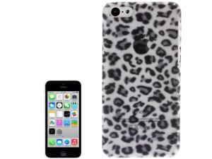 Grey Leopard Pattern Translucent Frosted Plastic Protective Case for iPhone 5C