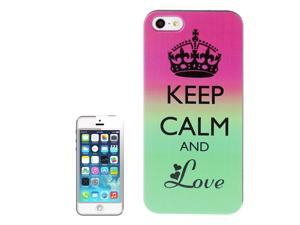Keep Calm and Love Pattern Plastic Case for iPhone 5 & 5S