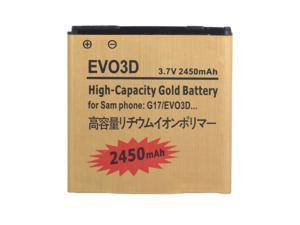 2450mAh Replacement Gold Battery for HTC G17 EVO 3D