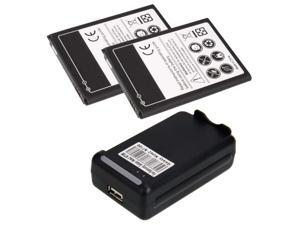 2 x 3500mAh Battery + Charger for Samsung Galaxy Note 2 N7100 GT-N7100