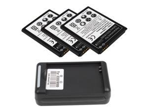 3 x 2300mah Battery + Charger for Samsung Galaxy S3 / i9300