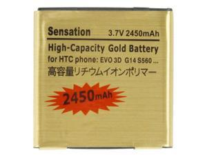 2450mAh Gold Battery for HTC EVO 3D / sensation xl / G14 / X515m / G17 Sensation XE Z715e / G18