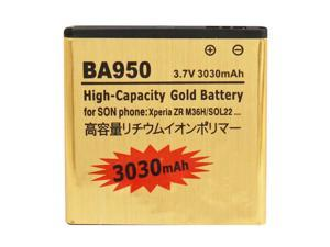 BA950 3030mAh High Capacity Gold Business Battery for Sony Xperia ZR / M36h / C5502 / C5503