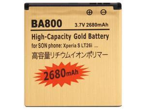 BA800 2680mAh Gold Business Battery for Sony Xperia S / LT26i / Xperia Arc HD