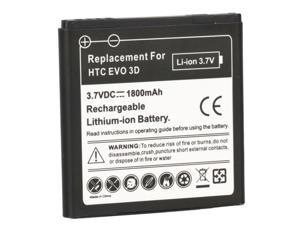 1800mAh Black Li-ion 3.7V Replacement Battery For HTC EVO 3D / HTC Sensation 4G