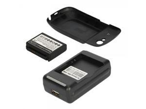 3000mAh Extended Battery + Black Cover + Charge for Samsung Google Nexus S I9020