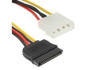 4 Pin IDE to Serial ATA SATA Power Cable Adapter (15cm), Material: Al+Mg