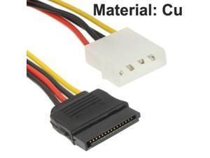 4 Pin IDE to Serial ATA SATA Power Adapter (15cm), Material: Cu