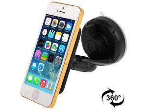 Shock-proof / 360 Rotating Angle Universal Car Windshield Mount Suck Holder for iPhone 5 & 5C & 5S, Samsung i9500 / i9300 / N7100, LG Nexus 5, Sony Xperia L39h etc.