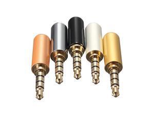 3 Pole Male Headphone Jack Plug Metal Audio +Heat Shrinkable Tube