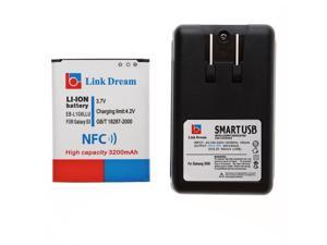 Link Dream 3.7V 3200mAh Li-ion Battery with NFC + US Plug Battery Charger for Samsung Galaxy S III / i9300