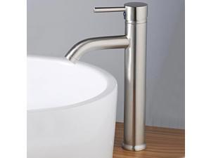 Durable Vessel Brushed Nickel Basin Sink Brass Faucets Mixer Taps