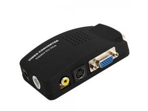 BNC AV S-Video RCA to VGA Converter Adapter