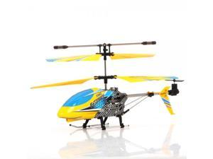DFD F102 3.5 Channel Infrared Remote Control RC Helicopter with Gyro Yellow&Blue