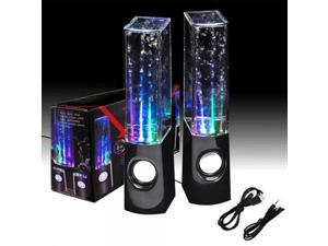 RC-S01 LED Light Dancing Water Speaker Creative Music Box USB for PC Laptop MP3 MP4 Cell Phone Black