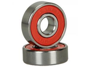 8pcs Abec 9 Durable Titanium & Stainless Steel Sporting Goods Skateboard Bearings Red