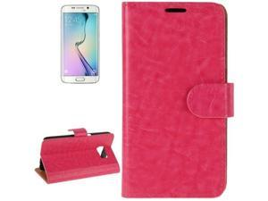 Crazy Horse Texture Horizontal Flip Magnetic Buckle Leather Case with Card Slots & Wallet & Holder for Samsung Galaxy S6 / G920(Magenta)