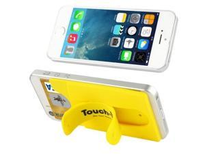 Silicone Material Smart Wallet Silicone Card Phone Holder for iPhone 6 / iPhone 5 & 5C & 5S / iPhone 4 & 4S / Samsung Galaxy S5 / Galaxy S IV / Galaxy SIII (Yellow)