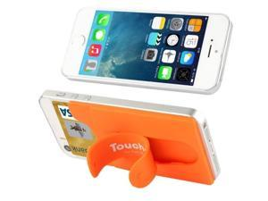 Silicone Material Smart Wallet Silicone Card Phone Holder for iPhone 6 / iPhone 5 & 5C & 5S / iPhone 4 & 4S / Samsung Galaxy S5 / Galaxy S IV / Galaxy SIII (Orange)