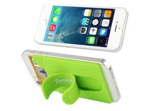 Silicone Material Smart Wallet Silicone Card Phone Holder for iPhone 6 / iPhone 5 & 5C & 5S / iPhone 4 & 4S / Samsung Galaxy S5 / Galaxy S IV / Galaxy SIII (Green)