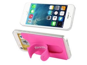 Silicone Material Smart Wallet Silicone Card Phone Holder for iPhone 6 / iPhone 5 & 5C & 5S / iPhone 4 & 4S / Samsung Galaxy S5 / Galaxy S IV / Galaxy SIII (Magenta)