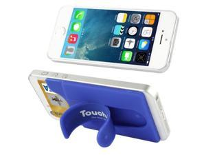 Silicone Material Smart Wallet Silicone Card Phone Holder for iPhone 6 / iPhone 5 & 5C & 5S / iPhone 4 & 4S / Samsung Galaxy S5 / Galaxy S IV / Galaxy SIII (Dark Blue)