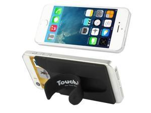 Silicone Material Smart Wallet Silicone Card Phone Holder for iPhone 6 / iPhone 5 & 5C & 5S / iPhone 4 & 4S / Samsung Galaxy S5 / Galaxy S IV / Galaxy SIII (Black)