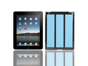 Vertical Stripes  Style Plastic Case for iPad 2 (Baby Blue)