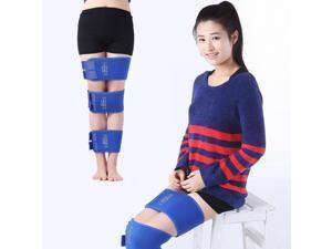 3pcs Dynamic O X Type Legs Straightening Correction Thigh Calf Beautifying Correction Belt Kit L Blue