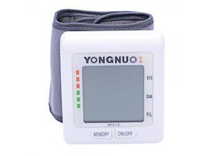 Yongnuo Large LCD Screen Wrist Type Automatic Digital Electronic Blood Pressure Monitor with Memory Function
