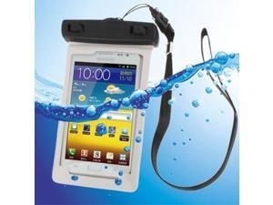 Universal Waterproof Bag with Strap & Armband for Samsung Galaxy Note / i9220 / N7000,Note LTE / N7005 / iPhone 4 & 4S / All Less than 5.3 inch Mobile Phone,  (White)