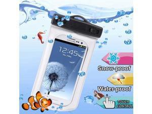 WP-160C White Waterproof Bag with Armband & 3.5mm Waterproof Headphone Jack for Samsung Galaxy SIII / i9300 / Galaxy SII / i9100, Water-proof Depth: 10M  (IPX8) (White)