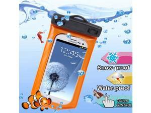 WP-160C Orange Waterproof Bag with Armband & 3.5mm Waterproof Headphone Jack for Samsung Galaxy SIII / i9300 / Galaxy SII / i9100, Water-proof Depth: 10M  (IPX8)