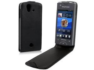 Leather Case for Sony Ericsson Xperia ray ST18i (Black)