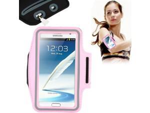 Universal PU Sports Armband Case with Earphone Hole for Samsung Galaxy Note 4 / N910 / Note III / N9000 / II / N7100 / i9220 / N7000 /  N7005 / Sony Z2 / Z1 (Pink)