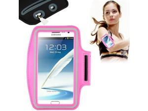 Universal PU Sports Armband Case with Earphone Hole for Samsung Galaxy Note 4 / N910 / Note III / N9000 / II / N7100 / i9220 / N7000 /  N7005 / Sony Z2 / Z1 (Magenta)