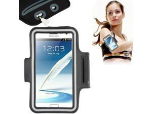 Universal PU Sports Armband Case with Earphone Hole for Samsung Galaxy Note 4 / N910 / Note III / N9000 / II / N7100 / i9220 / N7000 /  N7005 / Sony Z2 / Z1 (Black)