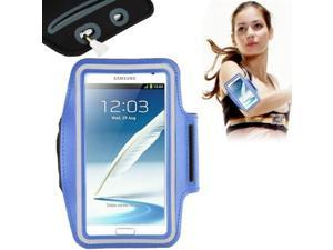 Universal PU Sports Armband Case with Earphone Hole for Samsung Galaxy Note 4 / N910 / Note III / N9000 / II / N7100 / i9220 / N7000 /  N7005 / Sony Z2 / Z1  (Blue)