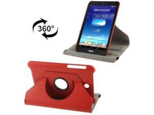 360 Degree Rotation Litchi Texture Leather Case with Holder for ASUS MeMO Pad HD 7 / ME173X  (Red)