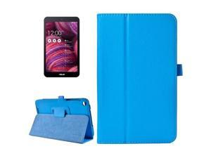 Litchi Texture Horizontal Flip Leather Case with Holder for ASUS MeMo Pad 8 ME181C (Blue)