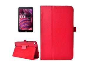 Litchi Texture Horizontal Flip Leather Case with Holder for ASUS MeMo Pad 8 ME181C (Red)