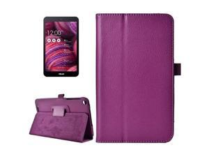 Litchi Texture Horizontal Flip Leather Case with Holder for ASUS MeMo Pad 8 ME181C (Purple)